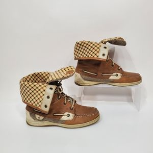Sperry Top Sider Ladyfish Fold Down Leather Boots